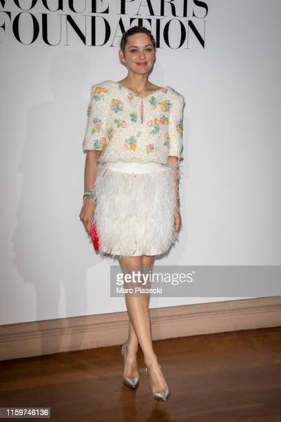 Actress Marion Cotillard attends the Vogue diner as part of Paris Fashion Week Haute Couture Fall Winter 2020 at Le Trianon on July 02 2019 in Paris...