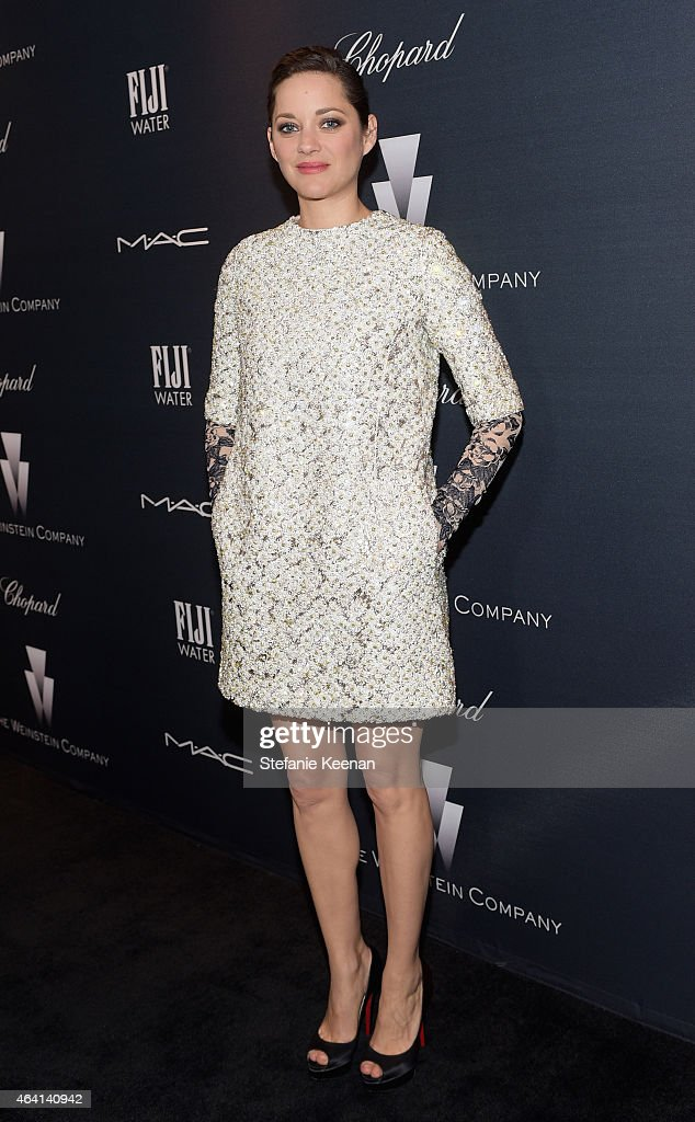 Actress Marion Cotillard attends The Weinstein Company's Academy Awards Nominees Dinner in partnership with Chopard, DeLeon Tequila, FIJI Water and MAC Cosmetics on February 21, 2015 in Los Angeles, California.
