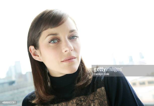 Actress Marion Cotillard is photographed for Los Angeles Times on May 4 2014 in New York City PUBLISHED IMAGE CREDIT MUST BE Carolyn Cole/Los Angeles...