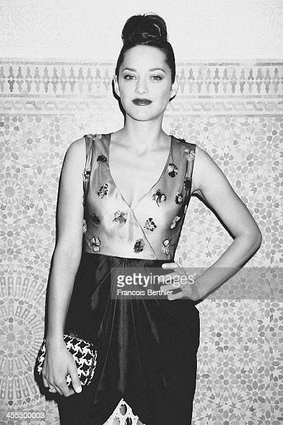 Actress Marion Cotillard is photographed for Self Assignment during the 13th Marrakech Film Festiva on December 2 2013 in Marrakech Morocco