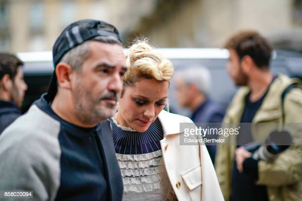 Actress Marion Cotillard is seen outside Valentino during Paris Fashion Week Womenswear Spring/Summer 2018 on October 1 2017 in Paris France
