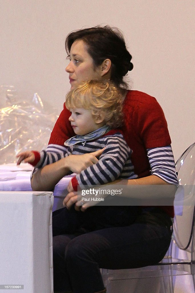 Actress Marion Cotillard is sighted at the Gucci Paris Masters 2012 at Paris Nord Villepinte on November 30, 2012 in Paris, France.