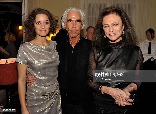 LOS ANGELES CA JANUARY 09 Actress Marion Cotillard Nicky Butler and actress Jacqueline Bisset attend the Dior Cocktails for Marion Cotillard and...