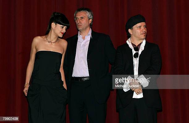 Actress Marion Cotillard Producer Alain Goldman and Director Olivier Dahan onstage during the opening night presentation at the 11th annual City Of...