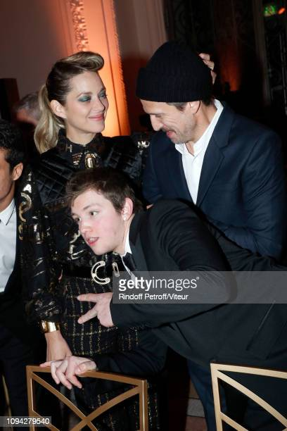 Actress Marion Cotillard Revelation for 'La priere' Anthony Bajon and his sponsor Guillaume Canet attend the 'Cesar Revelations 2019' at Le Petit...