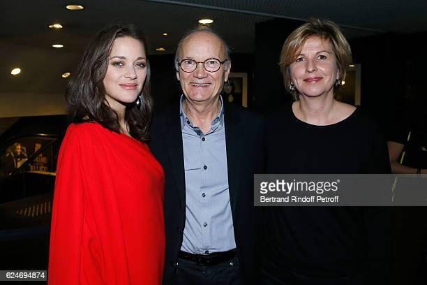 Actress Marion Cotillard with her parents JeanClaude Cotillard and Niseema Theillaud attend the Allied Allies Paris Premiere at Cinema UGC Normandie...