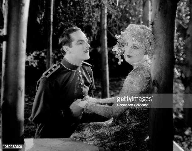 Actress Marion Davies and Antonio Moreno in a scene from the movie Beverly of Graustark