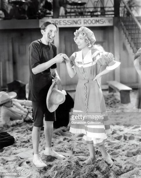 Actress Marion Davies and Claude Allister in a scene from the movie The Florodora Girl