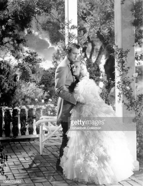 Actress Marion Davies and Gary Cooper in a scene from the movie Operator 13