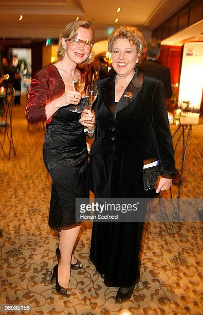 Actress Marion Kracht and actress Grit Boettcher and actress MarieLuise Marjan attend the 'Felix Burda Award 2010' at hotel Adlon Kempinski on April...