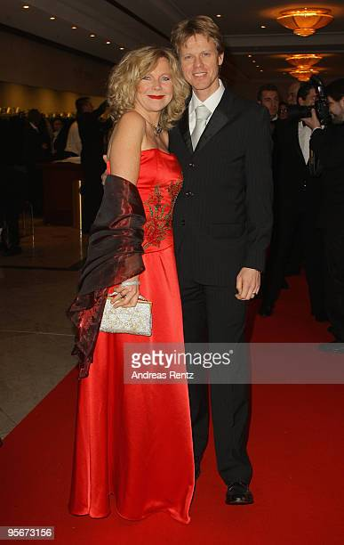 Actress Marion Kracht and her husband Berthold Manns attend at the 111 Berlin Press ball at Maritim Hotel on January 9 2010 in Berlin Germany