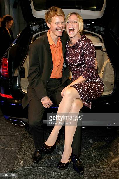 Actress Marion Kracht and her husband Berthold Manns attend the presentation of the new 'BMW 5er Gran Turismo' and 'BMW X1' at a BMW branch on...