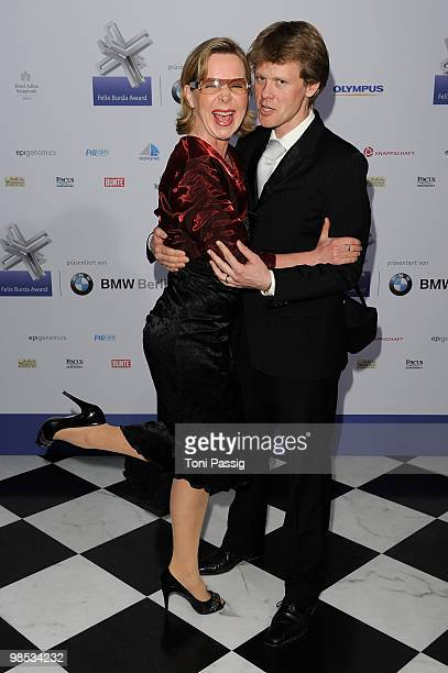 Actress Marion Kracht and husband Berthold Manns attend the 'Felix Burda Award' at hotel Adlon on April 18 2010 in Berlin Germany