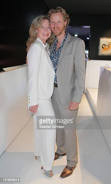 Actress Marion Kracht and husband Berthold Manns attends the Guido Maria Kretschmer presentation party at the Berlin Moscow Bar, Unter den Linden 52,...