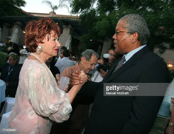 Actress Marion Ross and Actor Clarence William III attends the Hallmark Channel 2006 summer TCA party at the Ritz Carlton on July 12 2006 in...