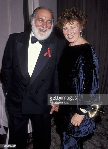 Actress Marion Ross and actor Paul Michael attending 'Academy of Television Arts and Sciences Gala Honoring Top College Films' on March 14 1993 at...