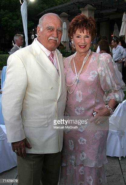 Actress Marion Ross and Actor/Husband Paul Michael attend the Hallmark Channel 2006 summer TCA party at the Ritz Carlton on July 12 2006 in...