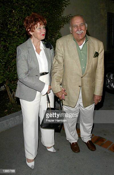 Actress Marion Ross and boyfriend Paul Michael attend the premiere of the play Cobb at The Falcon Theatre on September 14 2002 in Burbank California