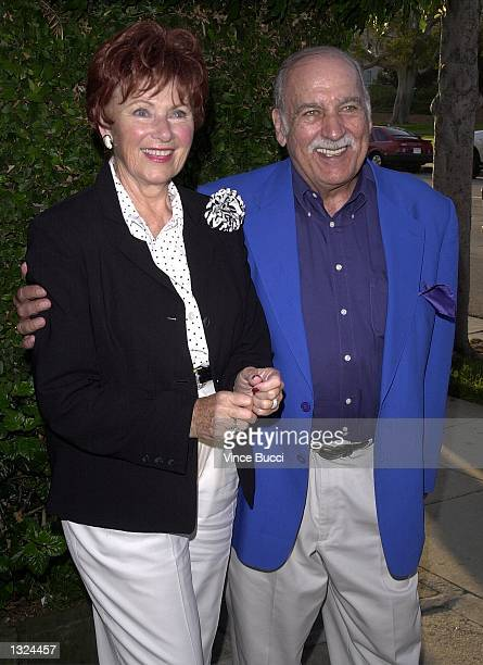 Actress Marion Ross and companion Paul Michael attend a special performance of the play Six Dance Lessons In Six Weeks July 10 2001 in Los Angeles CA...