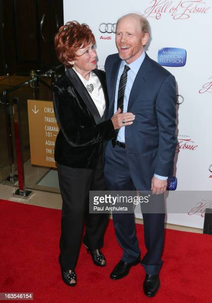 Actress Marion Ross and Director Ron Howard attend the Academy Of Television Arts & Sciences 22nd annual Hall Of Fame induction gala at The Beverly...