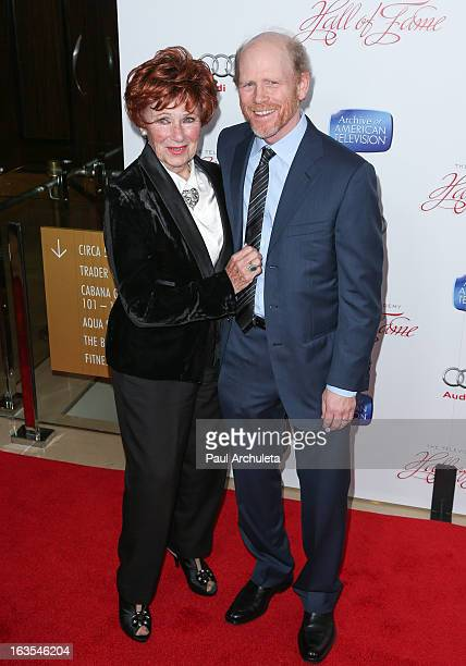 Actress Marion Ross and Director Ron Howard attend the Academy Of Television Arts Sciences 22nd annual Hall Of Fame induction gala at The Beverly...