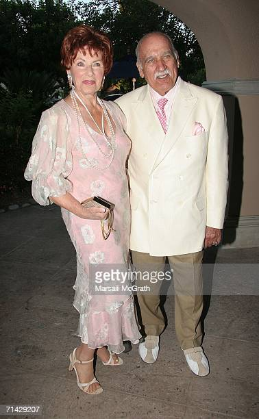 Actress Marion Ross and her husband actor Paul Michael attend the Hallmark Channel 2006 summer TCA party at the Ritz Carlton on July 12 2006 in...