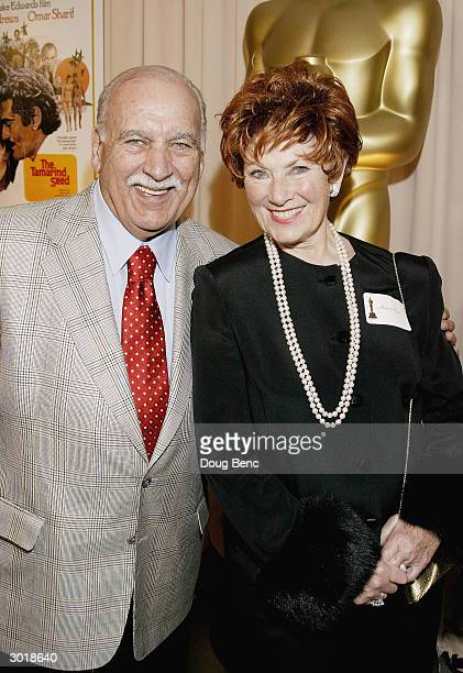 Actress Marion Ross and Paul Michael attend a reception in honor of director Blake Edwards who will receive an Honorary Oscar at the 76th Academy...