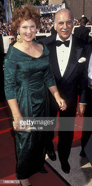 Actress Marion Ross and Paul Michael attending 44th Annual Primetime Emmy Awards on August 30 1992 at the Pasadena Civic Auditorium in Pasadena...
