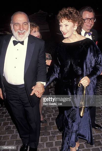 Actress Marion Ross and Paul Michael attending 49th Annual Golden Globe Awards on January 18 1992 at the Beverly Hilton Hotel in Beverly Hills...