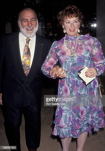 Actress Marion Ross and Paul Michael attending 'Governor's Arts Awards' on November 22 1991 at the Beverly Hilton Hotel in Beverly Hills California