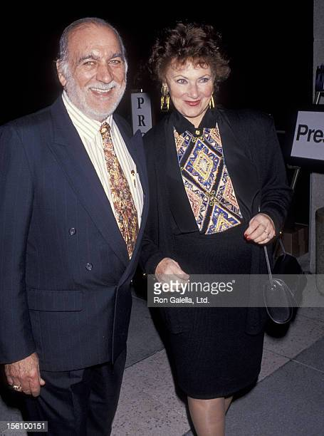 Actress Marion Ross and Paul Michael attending 'Opening of the Mark Taper Forum' on January 21 1993 in Los Angeles California