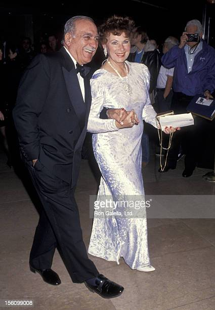 Actress Marion Ross and Paul Michael attending Second Annual Fire and Ice Ball Benefit on December 4 1991 at the Beverly Hilton Hotel in Beverly...