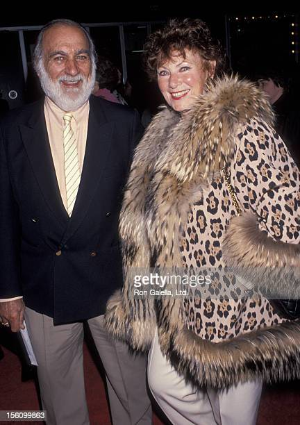 Actress Marion Ross and Paul Michael attending the opening night of 'Joseph and the Amazing Technicolor Dreamcoat' on February 25 1993 at the...