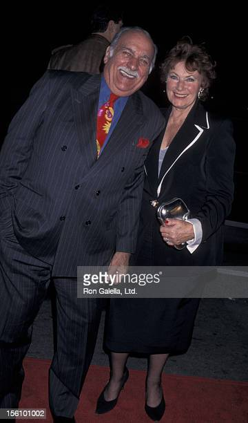 Actress Marion Ross and Paul Michael attending the premiere of 'The Evening Star' on December 18 1996 at Mann National Theater in Westwood California