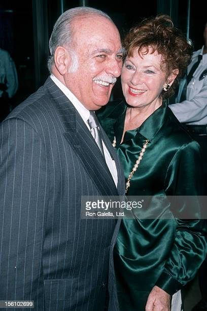 Actress Marion Ross and Paul Michael attending 'Women's Press Club Golden Apple Awards' on December 13 1998 at the Beverly Hilton Hotel in Beverly...