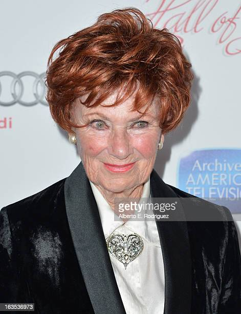 Actress Marion Ross attends the Academy of Television Arts & Sciences' 22nd Annual Hall of Fame Induction Gala at The Beverly Hilton Hotel on March...