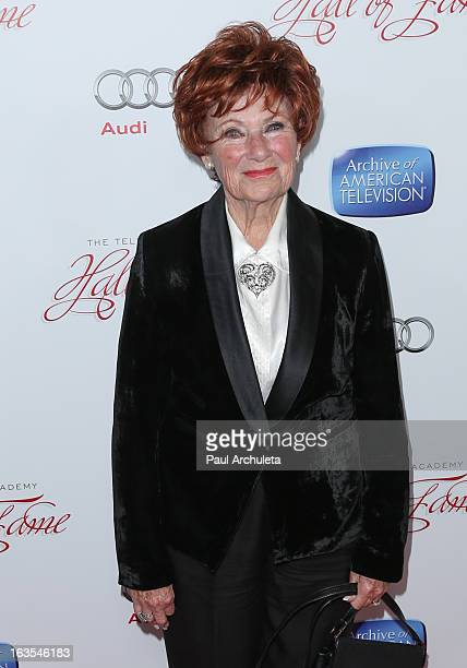 Actress Marion Ross attends the Academy Of Television Arts & Sciences 22nd annual Hall Of Fame induction gala at The Beverly Hilton Hotel on March...