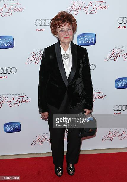 Actress Marion Ross attends the Academy Of Television Arts Sciences 22nd annual Hall Of Fame induction gala at The Beverly Hilton Hotel on March 11...