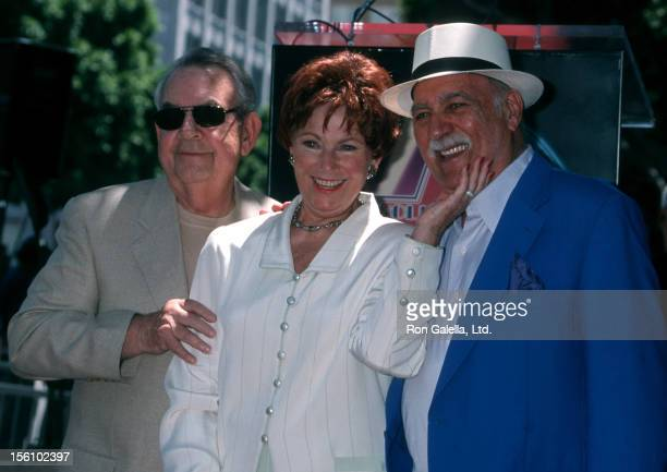 Actress Marion Ross Paul Michael and actor Tom Bosley attending 'Marion Ross Receives Walk of Fame Star' on July 12 2001 at Hollywood Walk of Fame in...
