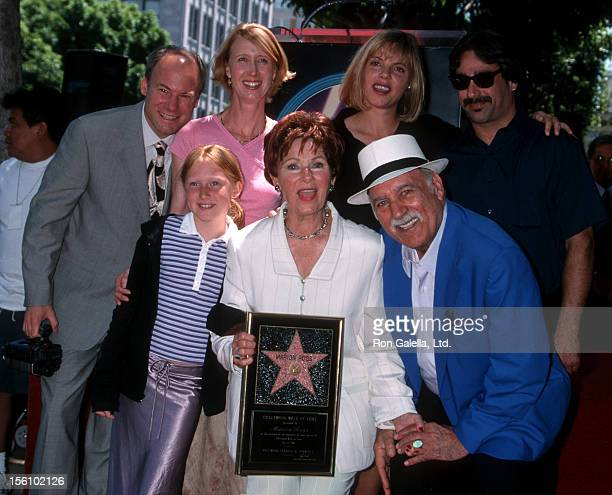 Actress Marion Ross Paul Michael and family attending 'Marion Ross Receives Walk of Fame Star' on July 12 2001 at Hollywood Walk of Fame in Hollywood...