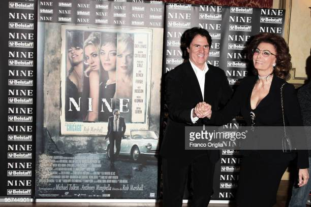 Actress Marion Sophia Loren and director Rob Marshall attend 'Nine' photocall at St Regis Grand Hotel on January 13 2010 in Rome Italy