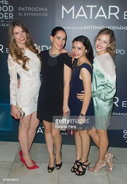 Actress Mariona Tena, actress Celia Freijeiro, actress Carla Diaz and actress Marta Larralde attend 'Matar el tiempo' premiere at Capitol cinema on...