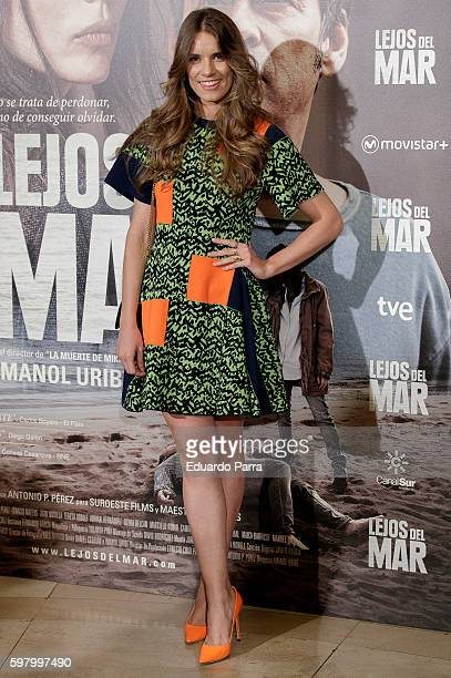 Actress Mariona Tena attends the 'Lejos del mar' premiere at Palafox cinema on August 30 2016 in Madrid Spain