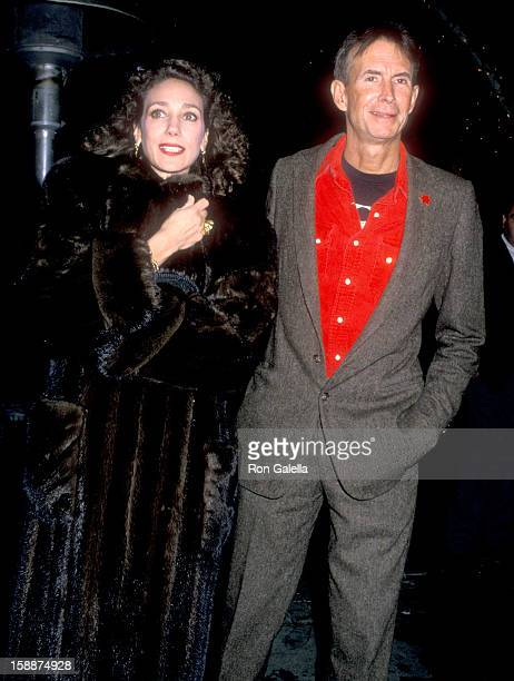 Actress Marisa Berenson and actor Anthony Perkins attend Sandy Gallin's Holiday Party on December 18 1988 at the Home of Sandy Gallin in Beverly...