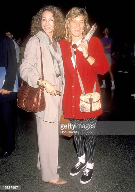 Actress Marisa Berenson and sister Berry Berenson attend the Launch of the Virgin Atlantic Airways' Los Angeles-London Inaugural Flight on May 16,...