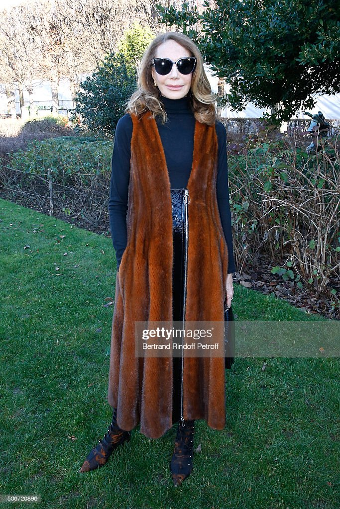 Actress Marisa Berenson attends the Christian Dior Spring Summer 2016 show as part of Paris Fashion Week. Held at Musee Rodin on January 25, 2016 in Paris, France.