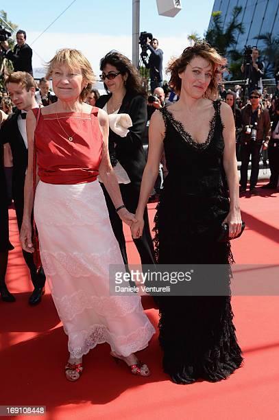 Actress Marisa Borini and director Valeria Bruni Tedeschi attend the Premiere of 'Un Chateau En Italie' during the 66th Annual Cannes Film Festival...