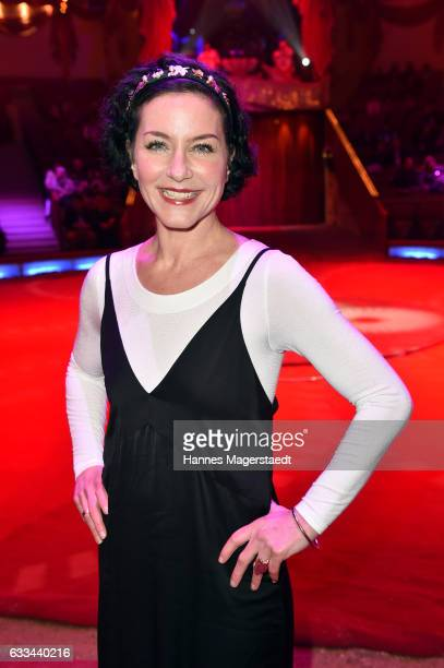 Actress Marisa Burger during the 'AllezHopp' premiere at Circus Krone on February 1 2017 in Munich Germany