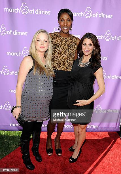 Actress Marisa Coughlan Basketball player Lisa Leslie and TV Personality Samantha Harris attend the March of Dimes Foundation Samantha Harris Host...