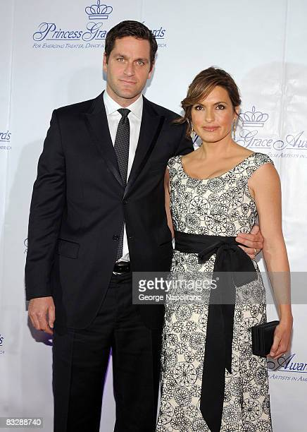 Actress Marisa Hargitay and husband Peter Hermann attend The Princess Grace Awards Gala at Cipriani 42nd Street on October 15, 2008 in New York City.